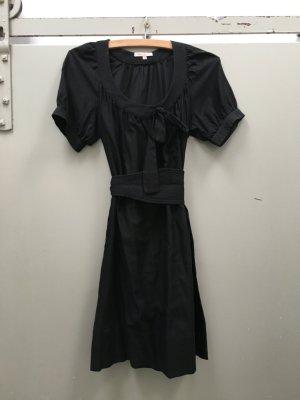 SANDRO Kleid schwarz Gr. S Baumwolle Seide mit Gürtel