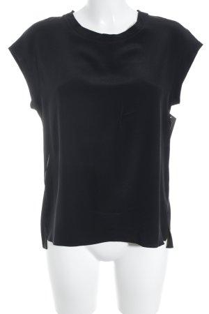 Sandro Kurzarm-Bluse schwarz Elegant