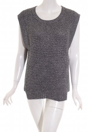 Sandro Short Sleeve Sweater black-silver-colored shimmery