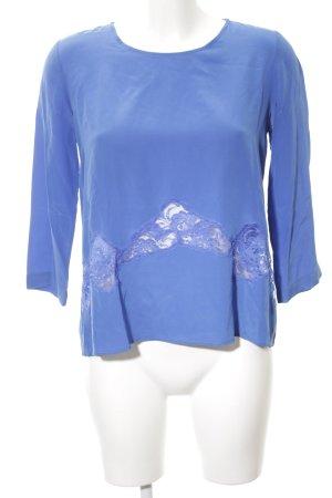Sandro Langarm-Bluse blau Casual-Look