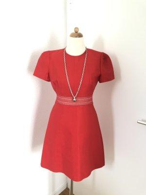 Sandro Paris Cut out jurk rood-donkerrood Gemengd weefsel