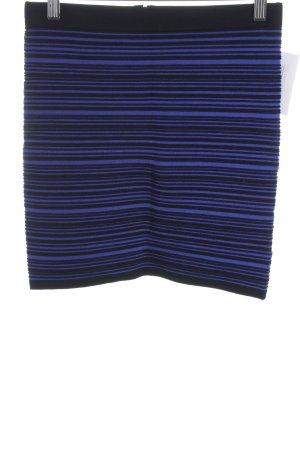 Sandro Minirock schwarz-blau Streifenmuster Casual-Look