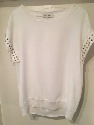 Sandro Nieten Shirt in weiß, Größe 36