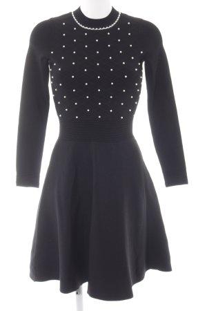 Sandro Paris Abendkleid schwarz Karomuster Elegant