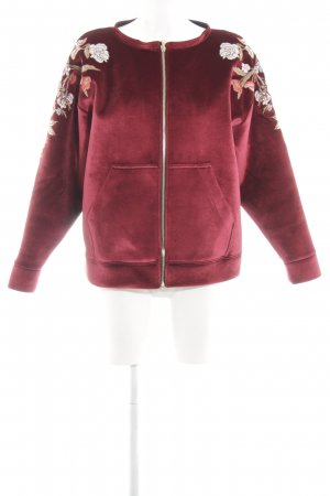 Sandro Paris Blouson rosso motivo floreale stile casual
