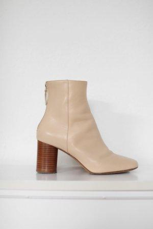 Sandro Paris Boots Stiefel Ankle Stiefeletten Beige Gr. 38 Vintage Look