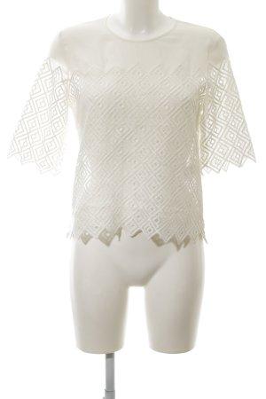 Sandro Paris Kurzarm-Bluse weiß schlichter Stil