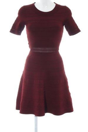 Sandro Paris Kurzarmkleid rot Streifenmuster Elegant