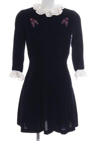 Sandro Paris Langarmkleid dunkelblau-wollweiß Elegant
