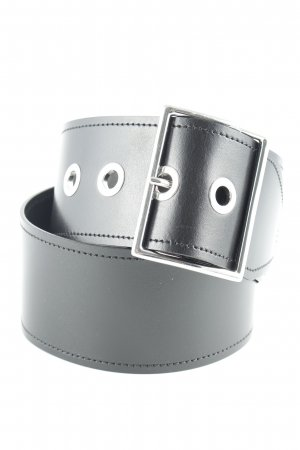 Sandro Paris Leather Belt black