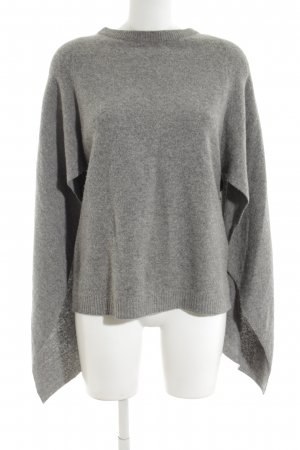 Sandro Paris Poncho grey flecked casual look