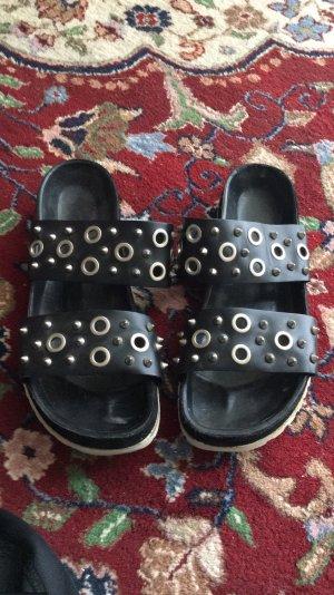 Sandro Paris Comfort Sandals black-white