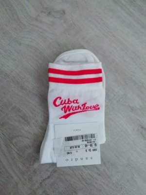 Sandro Paris Socken Tennissocken Cuba with Love Statement