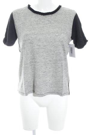 Sandro Paris Knitted Jumper black-grey flecked casual look
