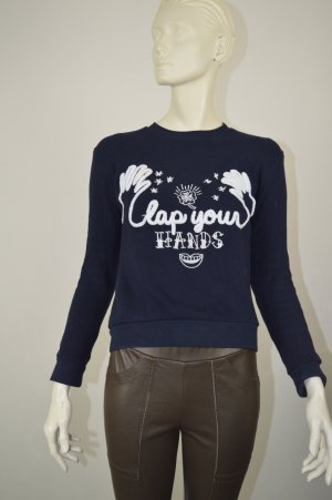 Sandro Paris Sweatshirt 34 36 blau clap your hands Np 179€