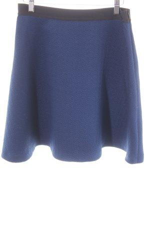 Sandro Paris Falda circular negro-azul estilo fiesta