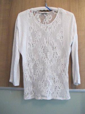 Sandro Crochet Shirt multicolored linen