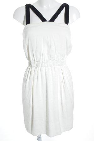 Sandro Paris Trägerkleid creme-schwarz Romantik-Look