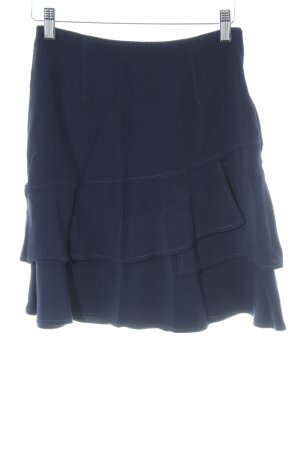 Sandro Paris Flounce Skirt dark blue casual look