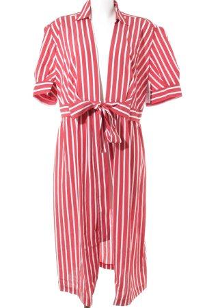 Sandro Paris Robe portefeuille rouge-blanc motif rayé Look de plage