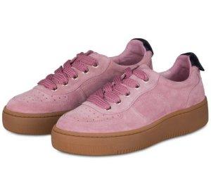 Sandro Paris Wildleder Plateau Sneaker Schuhe Camille rosa pink camel 38 Blogger NP 225.-