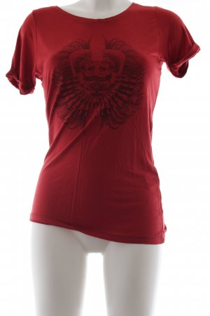 Sandro Print-Shirt ziegelrot Casual-Look