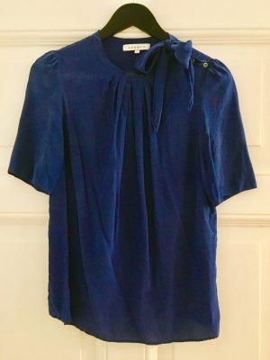 Sandro Seide Bluse Top Blau