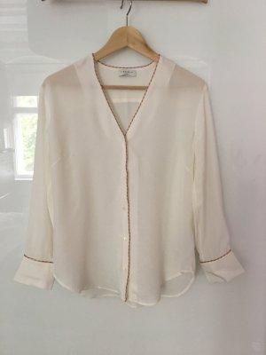 Sandro Paris Silk Blouse white silk