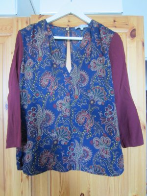 Sandro Shirt Bluse mit Muster Gr. 1/ 34 / 36 TOP