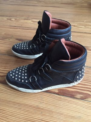 Sandro High top sneaker zwart