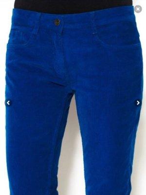 Sandro Sommer Feincord Hose  Zipper Ankle  Electric Blue FR 38, S