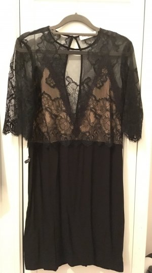 Sandro Lace Dress black viscose