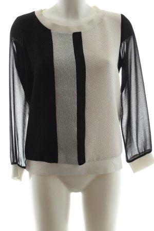 Sandro Sweatshirt schwarz-weiß Streifenmuster Business-Look