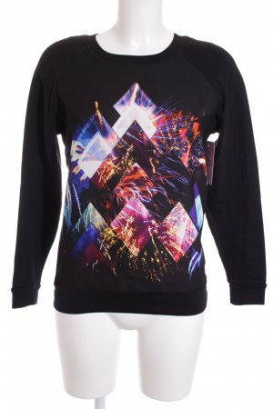 Sandro Sweatshirt abstrakter Druck Street-Fashion-Look