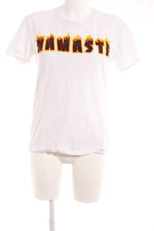 Sandro T-Shirt Schriftzug gestickt Casual-Look