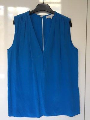 Sandro Mouwloze blouse veelkleurig Zijde