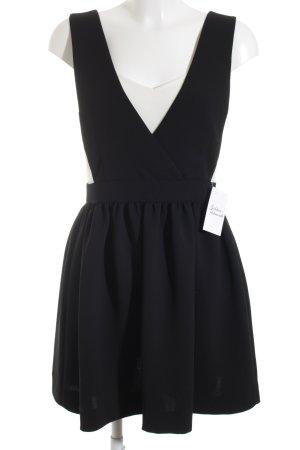 Sandro Trägerkleid schwarz-weiß Elegant