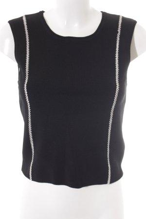 Sandro Trägertop schwarz-weiß minimalistischer Stil