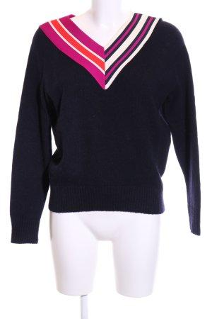 Sandro V-Ausschnitt-Pullover mehrfarbig Business-Look