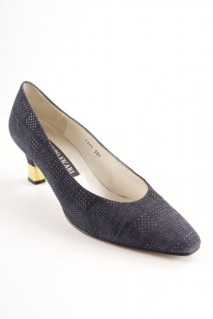 Sandro Vicari Pointed Toe Pumps dark blue business style