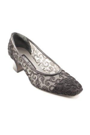 Sandro Vicari Zapatos Informales negro-color plata estampado floral elegante
