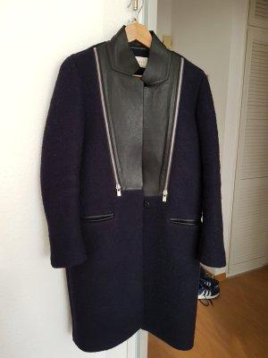 Sandro Wollen jas donkerblauw Wol