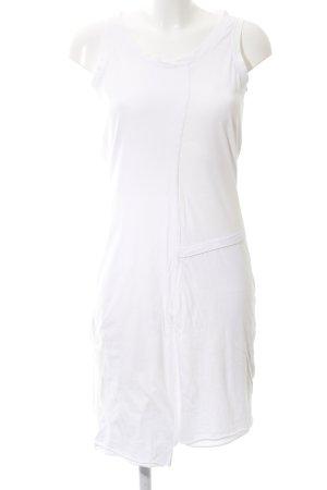 Sandwich A-Linien Kleid weiß Casual-Look