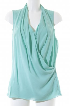 Sandwich ärmellose Bluse mint Casual-Look