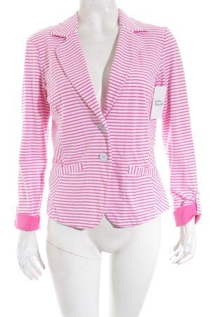 Sandwich Blazer weiß-pink Streifenmuster Casual-Look