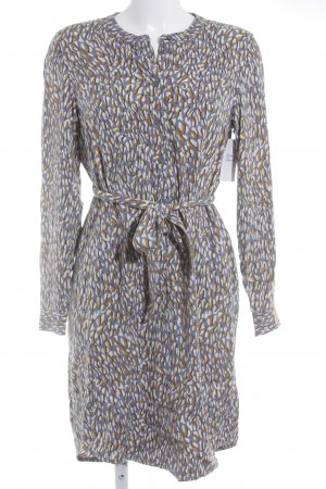 Sandwich Blusenkleid grafisches Muster Casual-Look