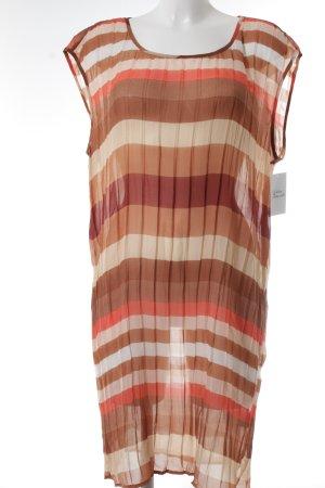 Sandwich Blusenkleid dunkelorange-hellbraun Streifenmuster Beach-Look