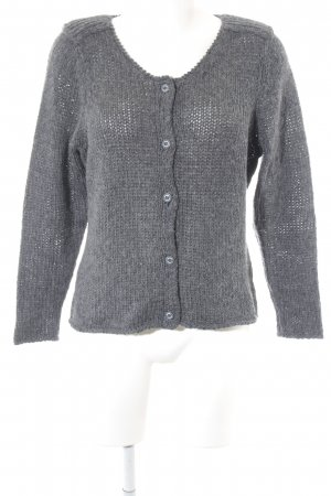 Sandwich Cardigan dunkelgrau Casual-Look