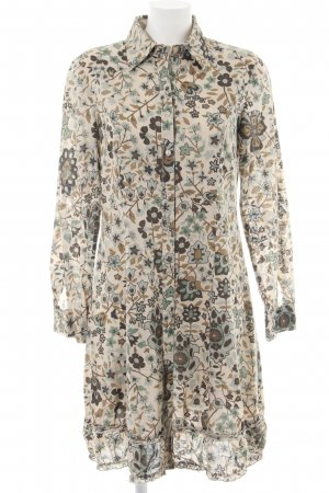 Sandwich Shirtwaist dress natural white-brown flower pattern casual look