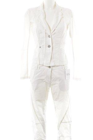 Sandwich Tailleur-pantalon blanc cassé pailleté